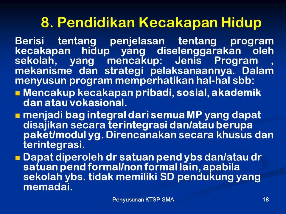 8. Pendidikan Kecakapan Hidup