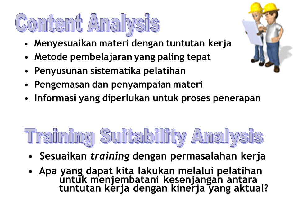 Training Suitability Analysis