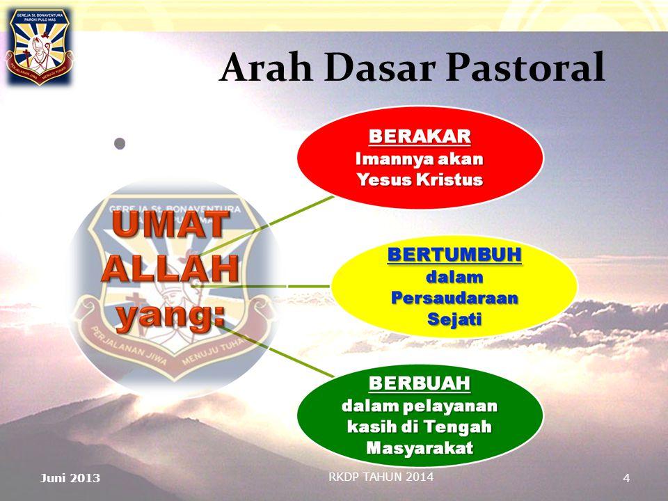 Arah Dasar Pastoral Juni 2013 RKDP TAHUN 2014 4