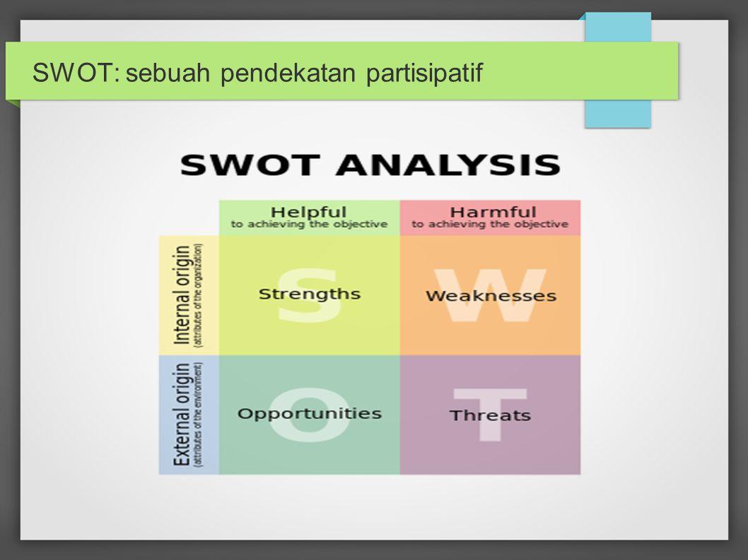 SWOT: sebuah pendekatan partisipatif