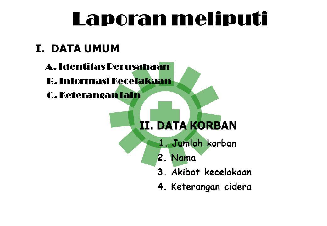 Laporan meliputi ggggggggggg I. DATA UMUM A. Identitas Perusahaan