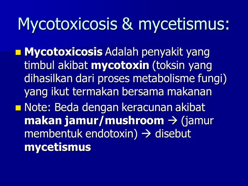 Mycotoxicosis & mycetismus: