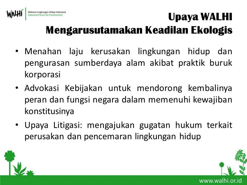 Upaya WALHI Mengarusutamakan Keadilan Ekologis