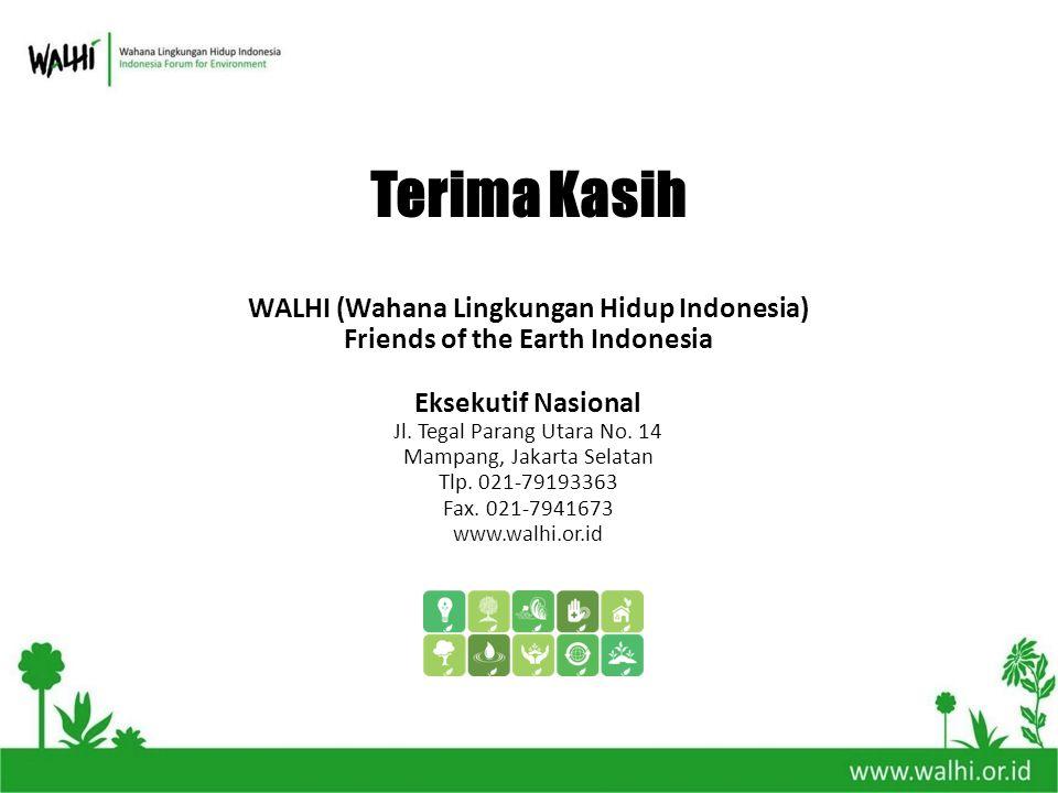 Terima Kasih WALHI (Wahana Lingkungan Hidup Indonesia)