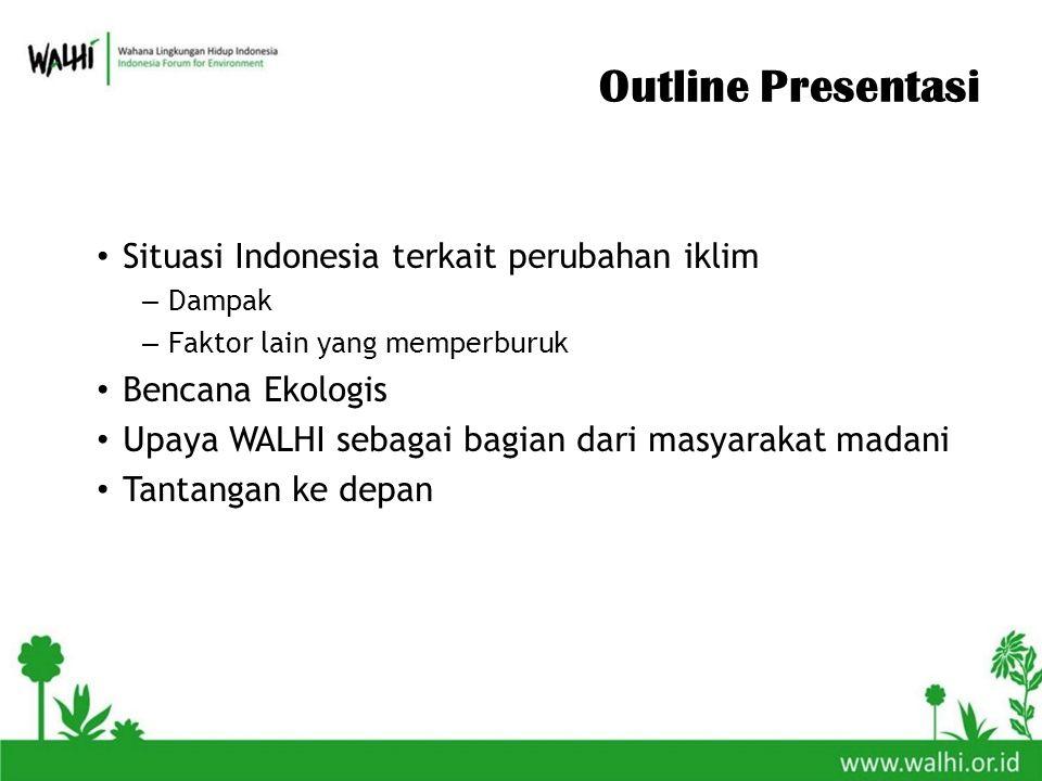 Outline Presentasi Situasi Indonesia terkait perubahan iklim