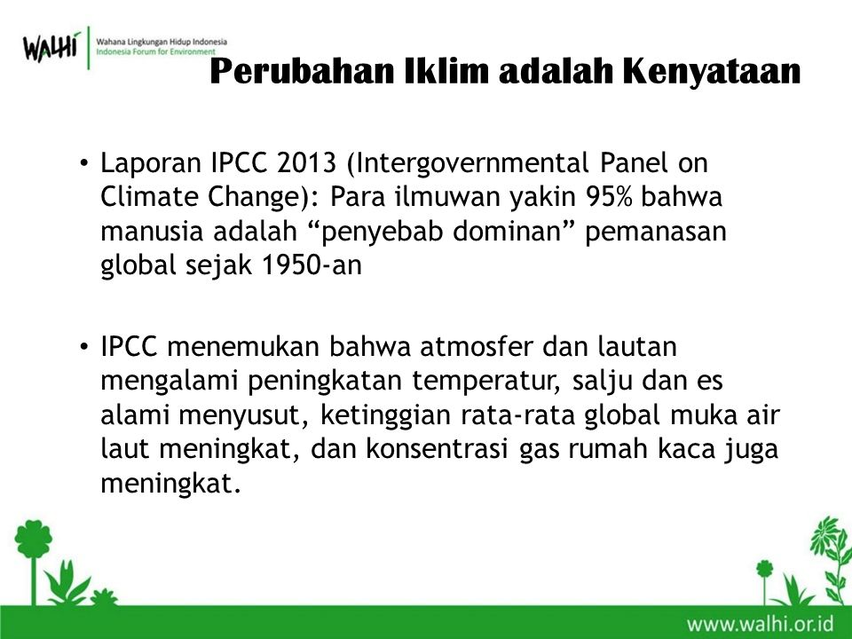 Perubahan Iklim adalah Kenyataan