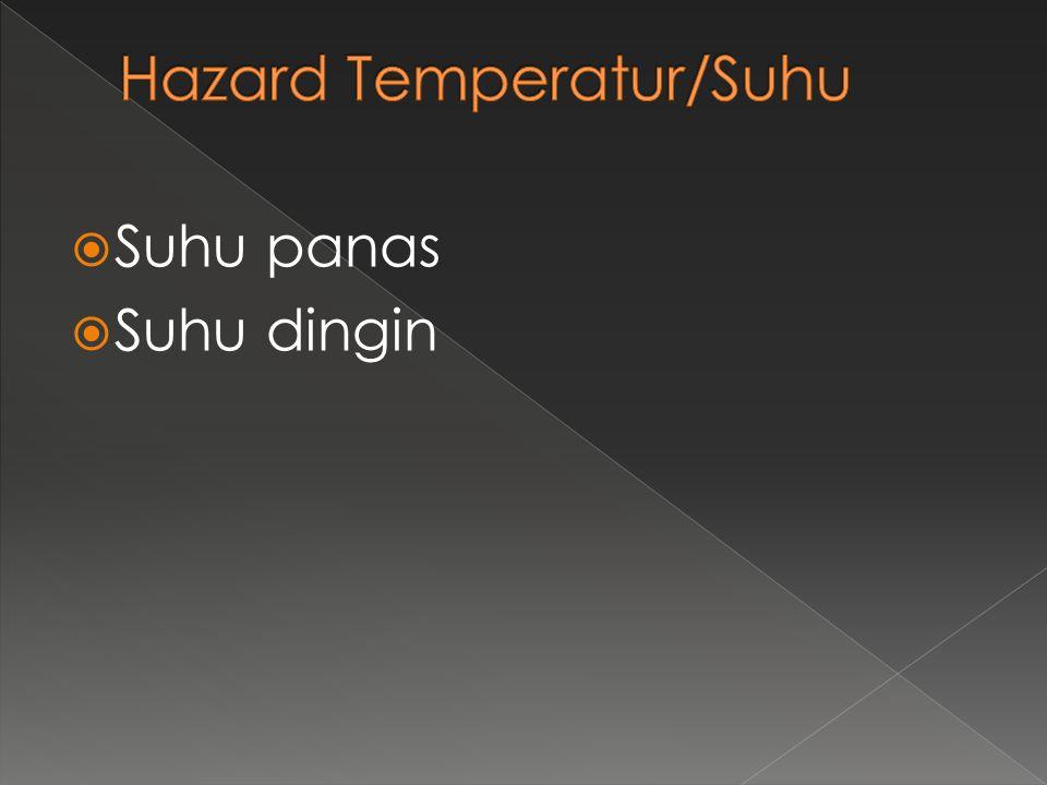 Hazard Temperatur/Suhu