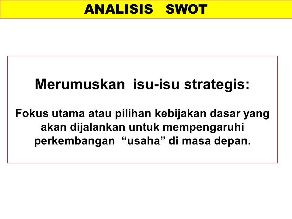 Merumuskan isu-isu strategis: