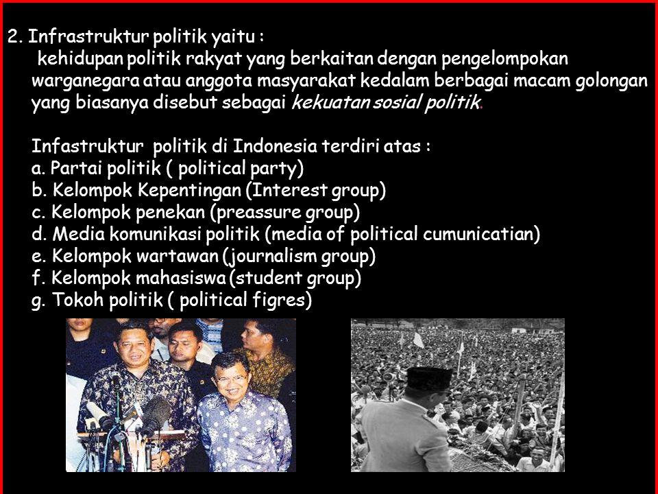 2. Infrastruktur politik yaitu :