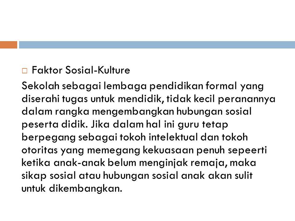Faktor Sosial-Kulture