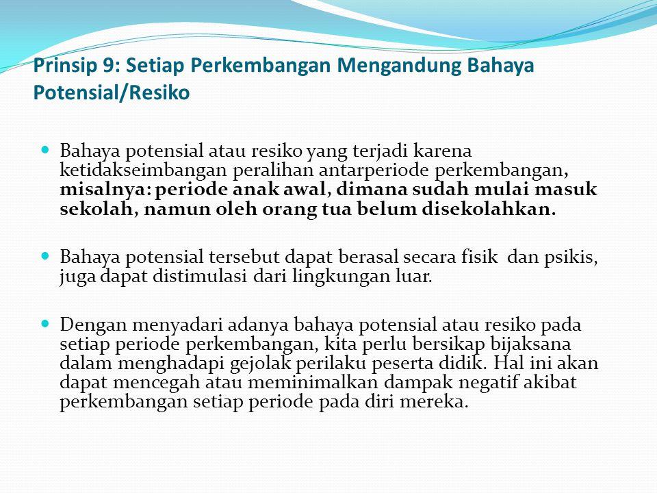 Prinsip 9: Setiap Perkembangan Mengandung Bahaya Potensial/Resiko