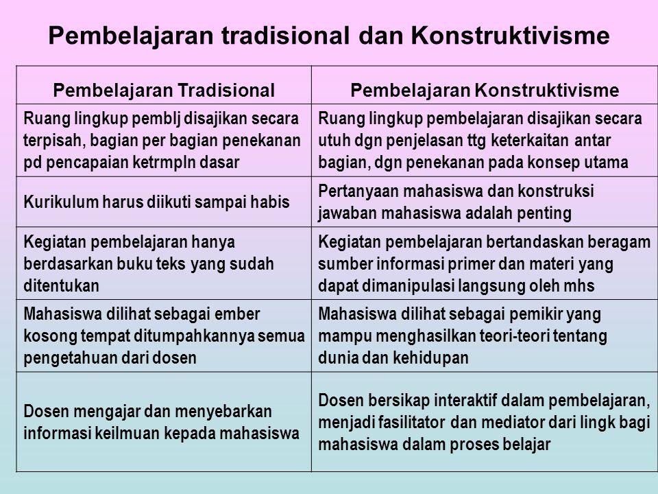 Pembelajaran tradisional dan Konstruktivisme