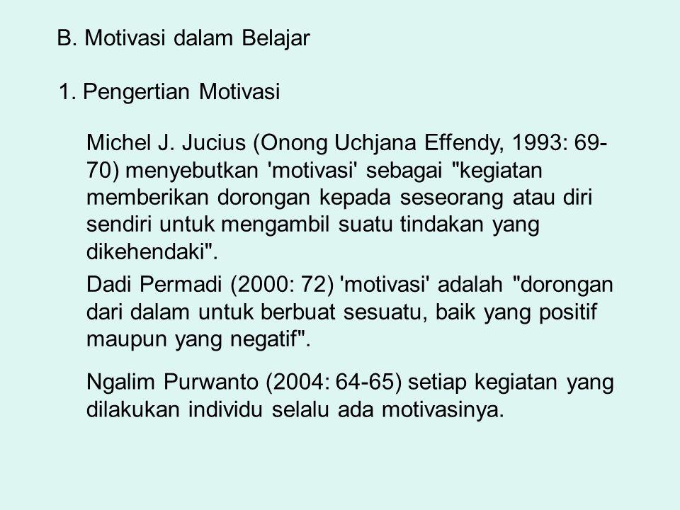 B. Motivasi dalam Belajar