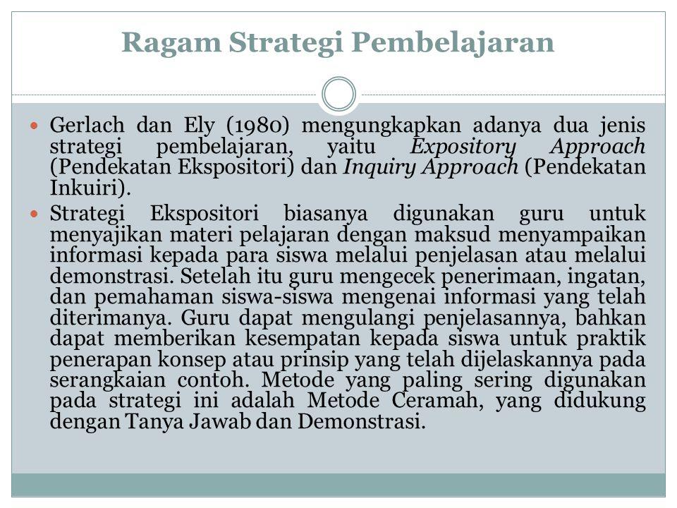 Ragam Strategi Pembelajaran