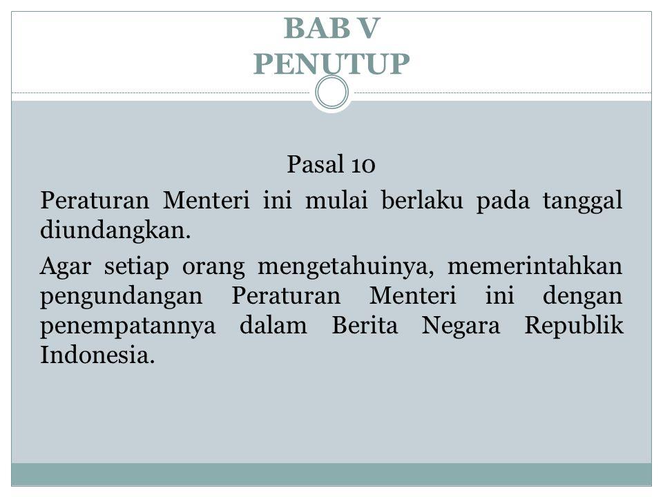 BAB V PENUTUP