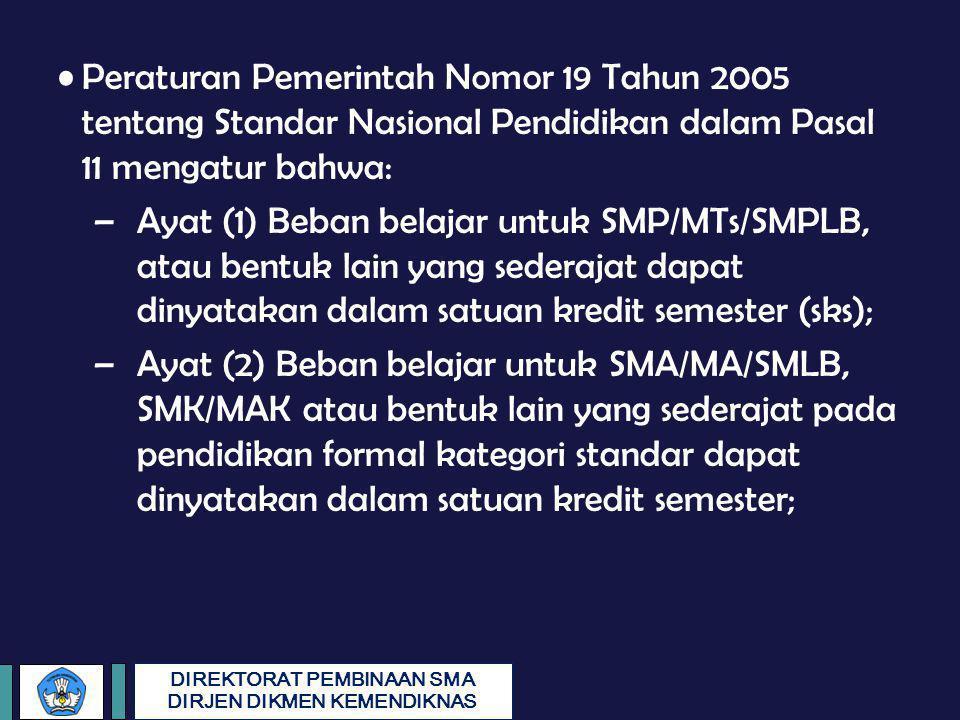 Peraturan Pemerintah Nomor 19 Tahun 2005 tentang Standar Nasional Pendidikan dalam Pasal 11 mengatur bahwa: