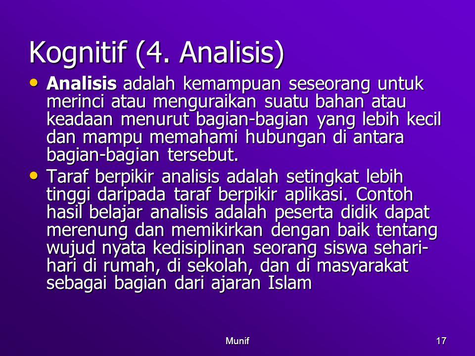 Kognitif (4. Analisis)