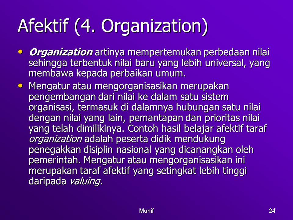 Afektif (4. Organization)