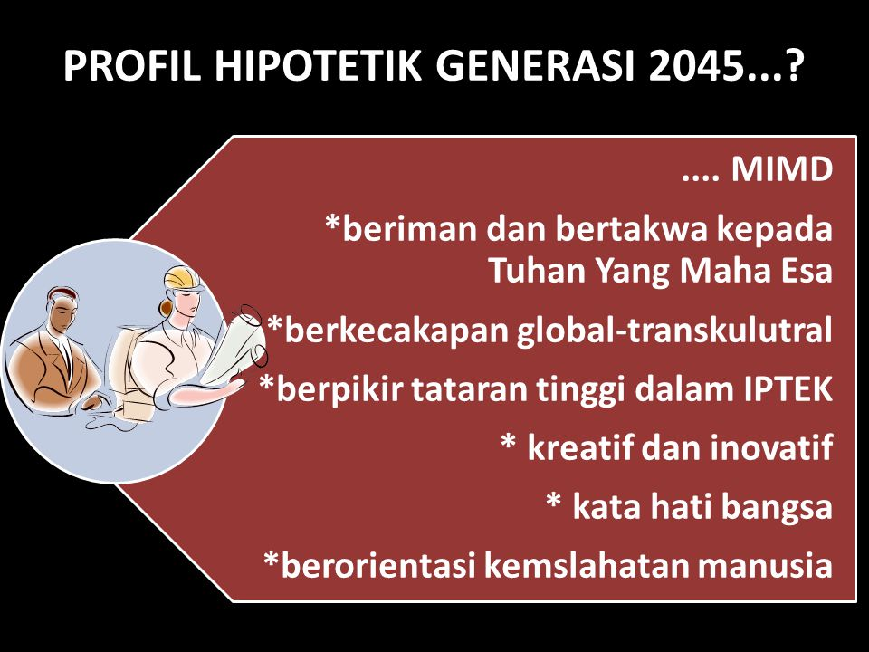 PROFIL HIPOTETIK GENERASI 2045...