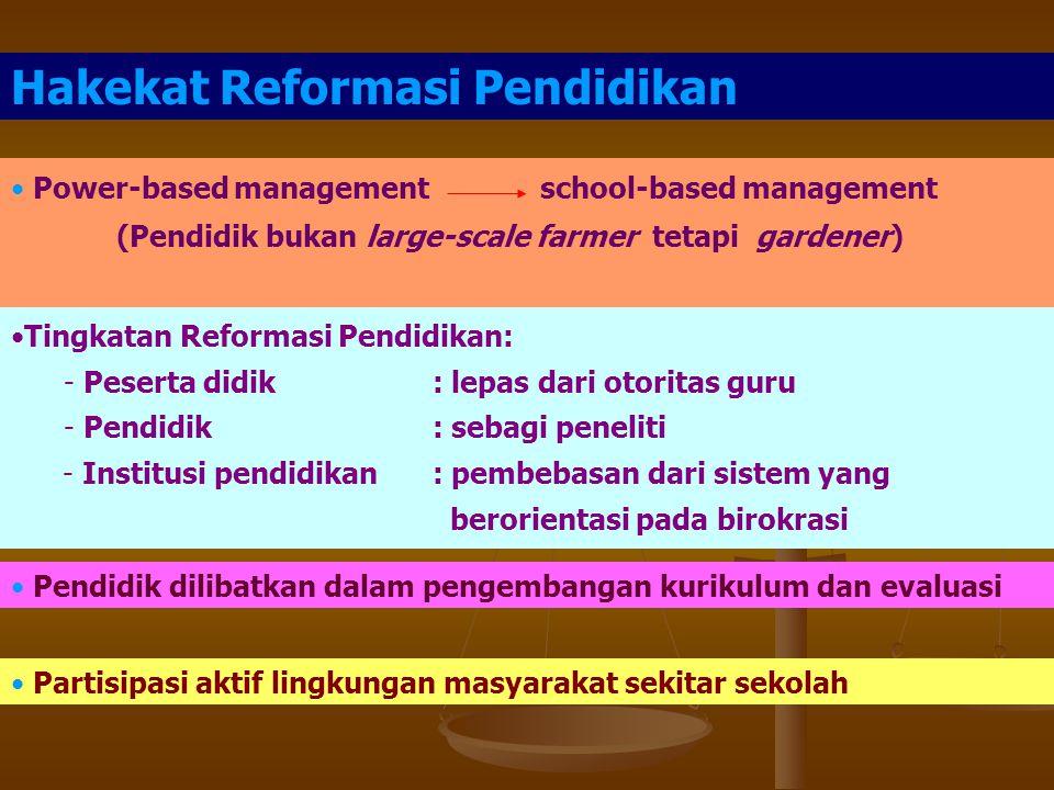 Hakekat Reformasi Pendidikan