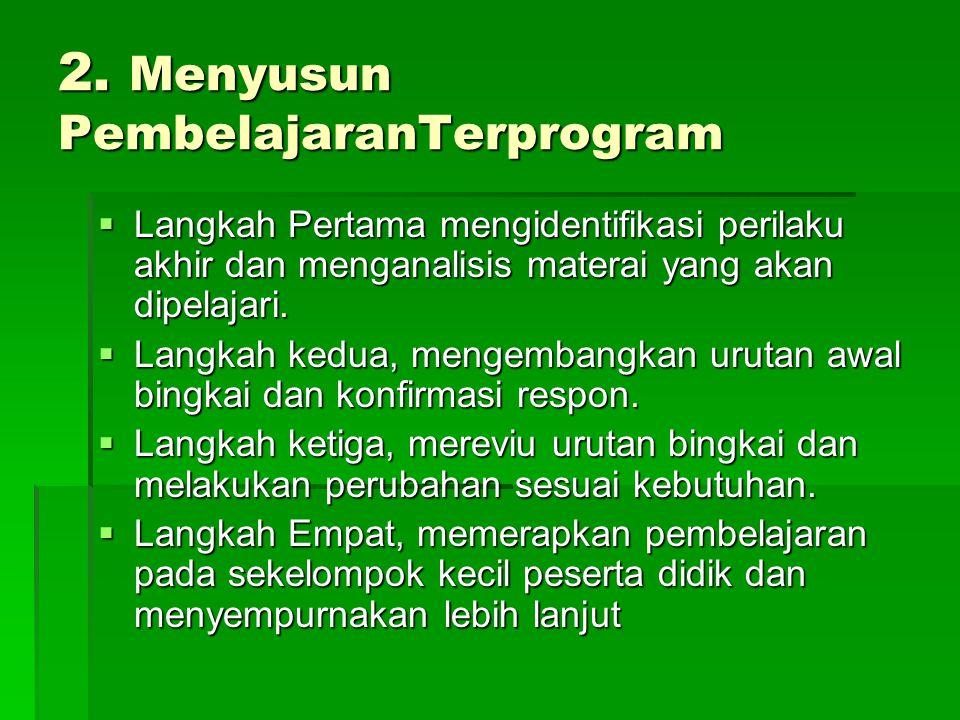 2. Menyusun PembelajaranTerprogram