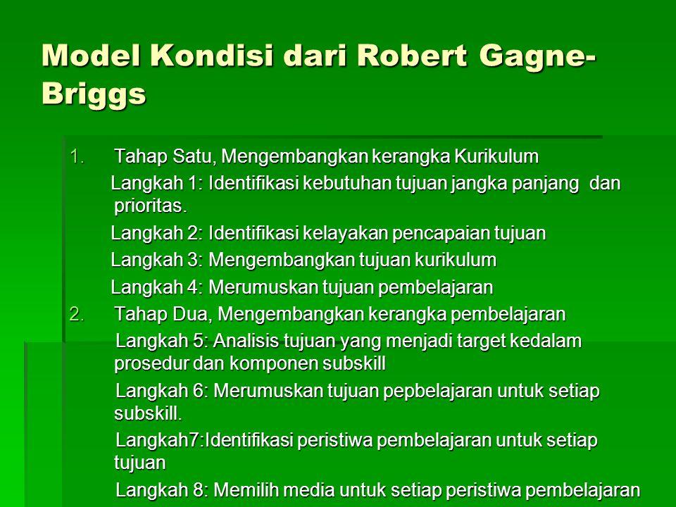 Model Kondisi dari Robert Gagne-Briggs