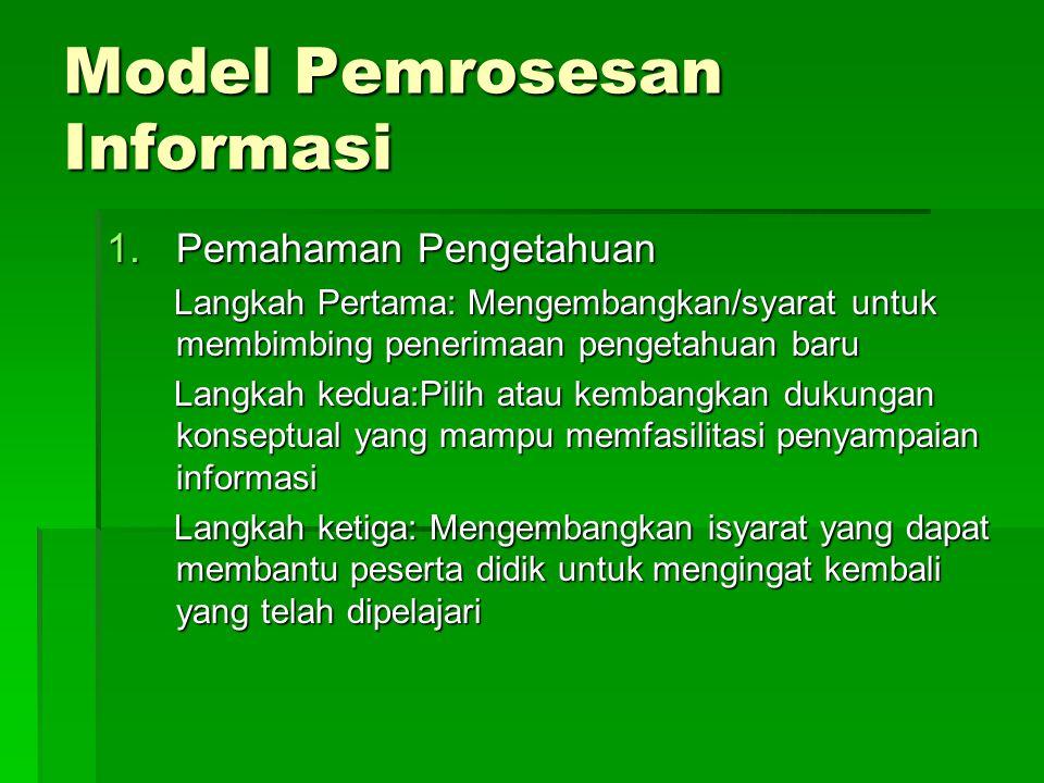 Model Pemrosesan Informasi