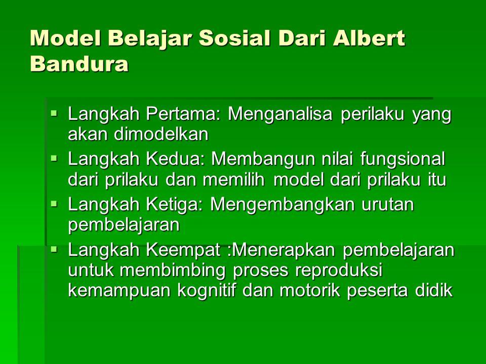 Model Belajar Sosial Dari Albert Bandura