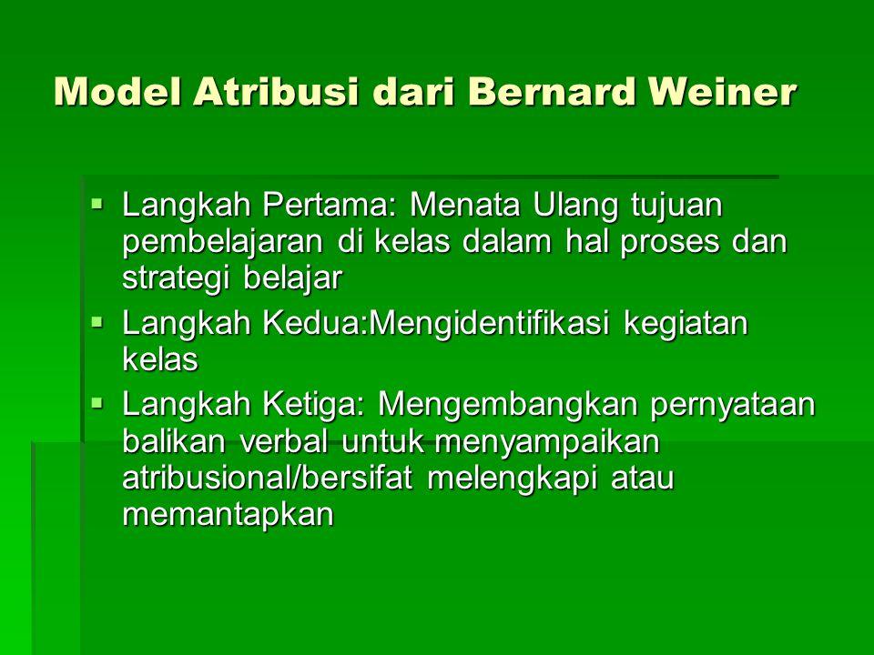 Model Atribusi dari Bernard Weiner