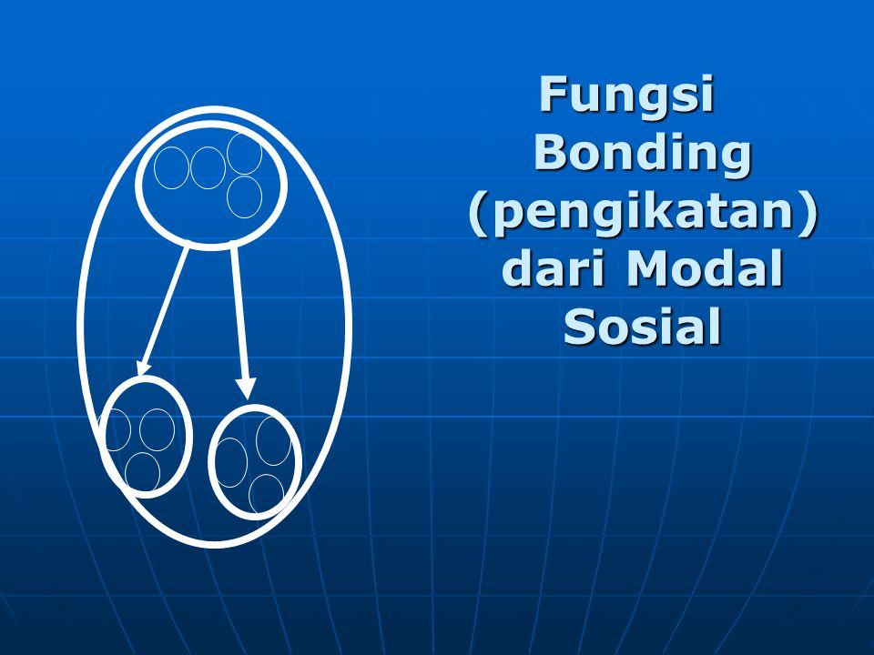 Fungsi Bonding (pengikatan) dari Modal Sosial