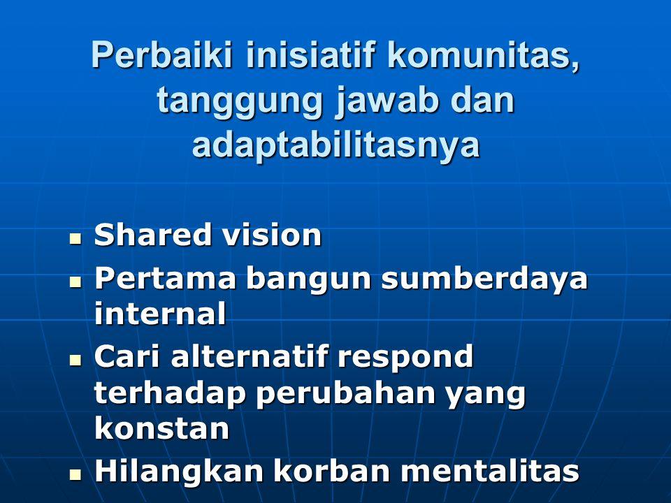 Perbaiki inisiatif komunitas, tanggung jawab dan adaptabilitasnya