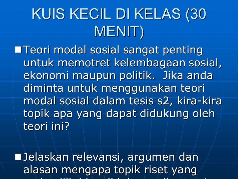 KUIS KECIL DI KELAS (30 MENIT)