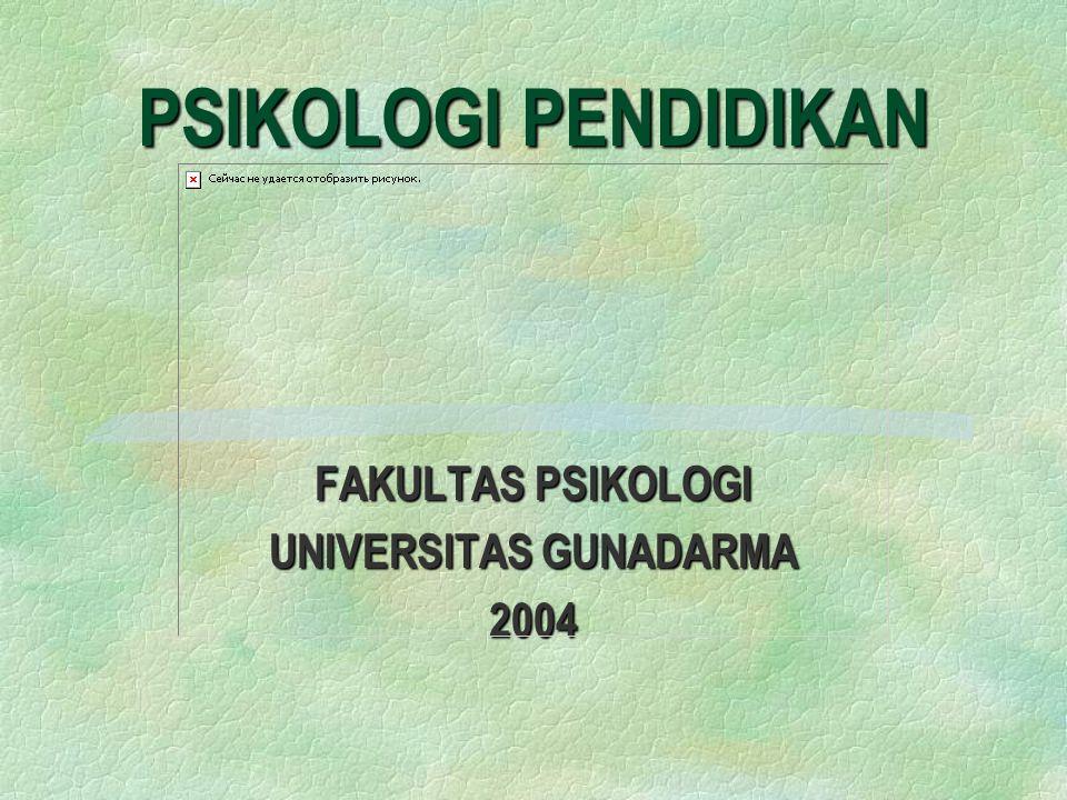 FAKULTAS PSIKOLOGI UNIVERSITAS GUNADARMA 2004