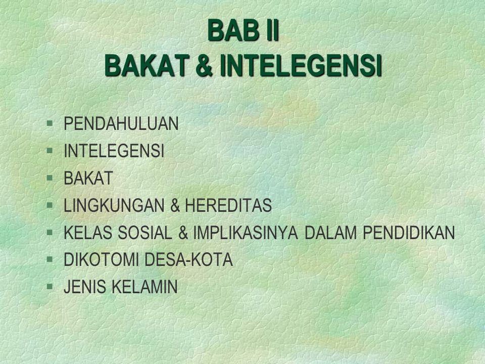 BAB II BAKAT & INTELEGENSI