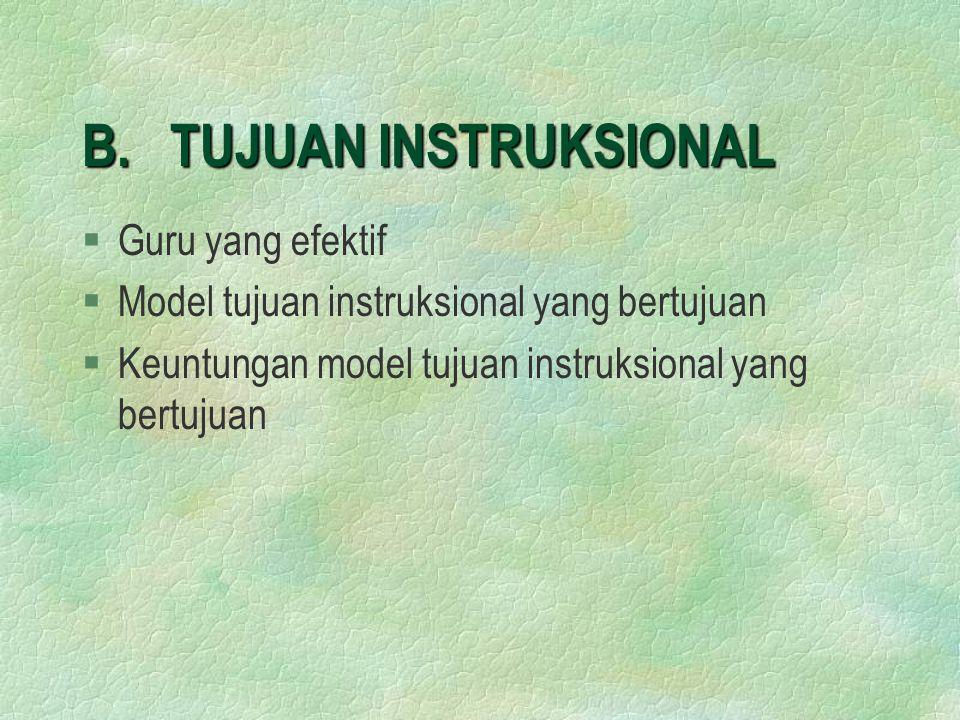 B. TUJUAN INSTRUKSIONAL