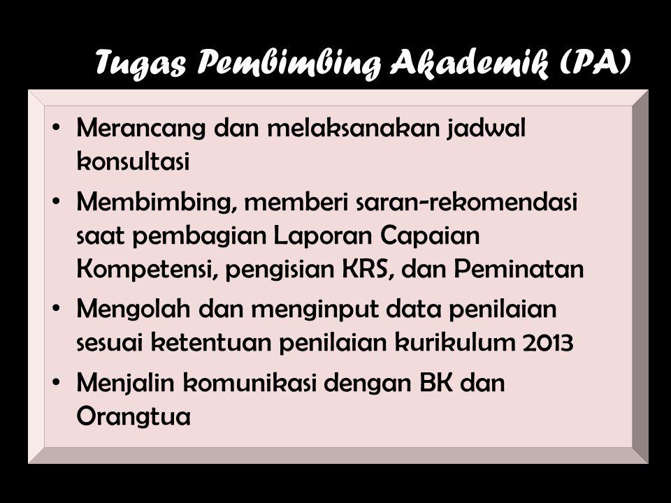 Tugas Pembimbing Akademik (PA)