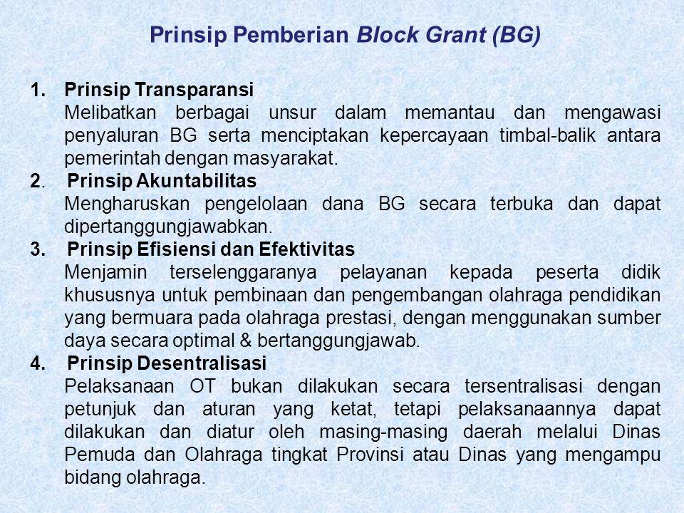 Prinsip Pemberian Block Grant (BG)