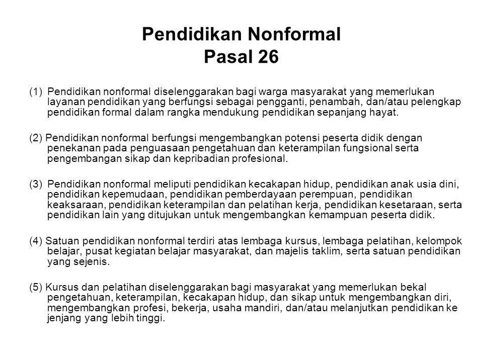 Pendidikan Nonformal Pasal 26