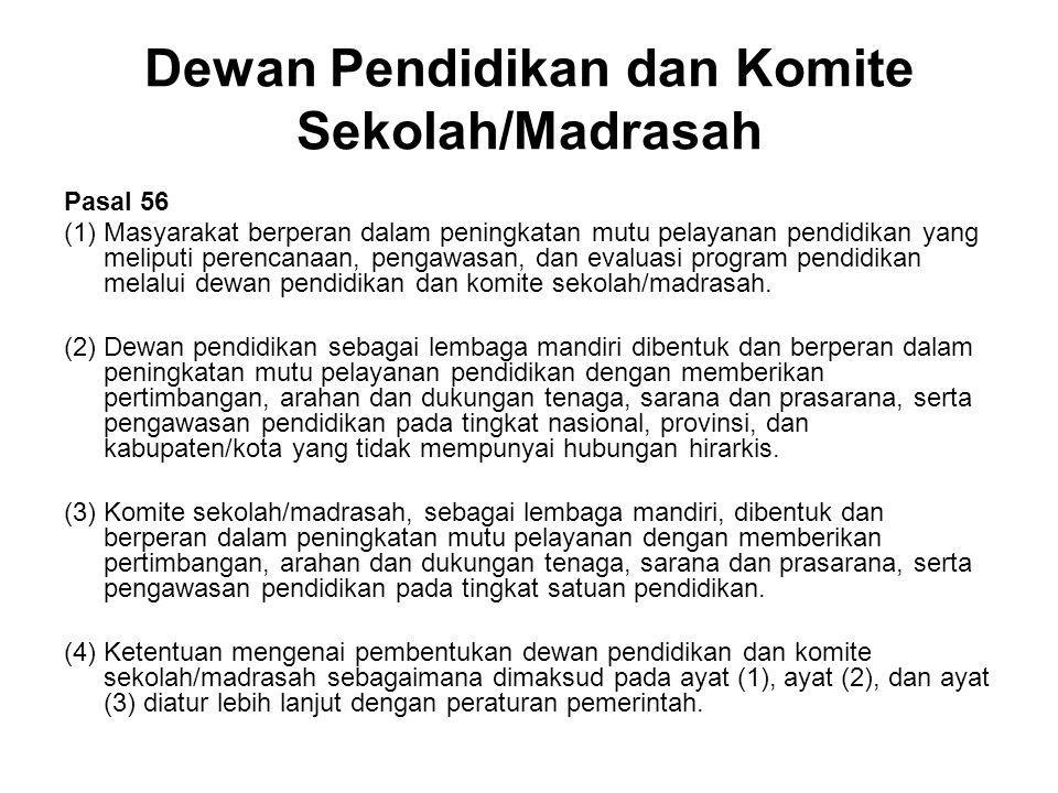 Dewan Pendidikan dan Komite Sekolah/Madrasah