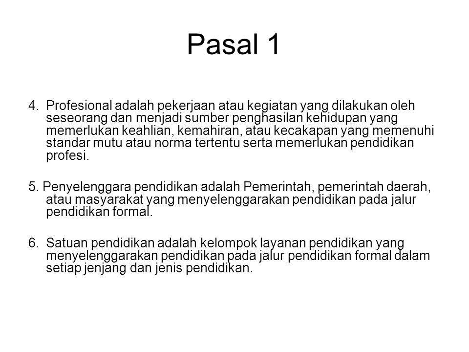 Pasal 1