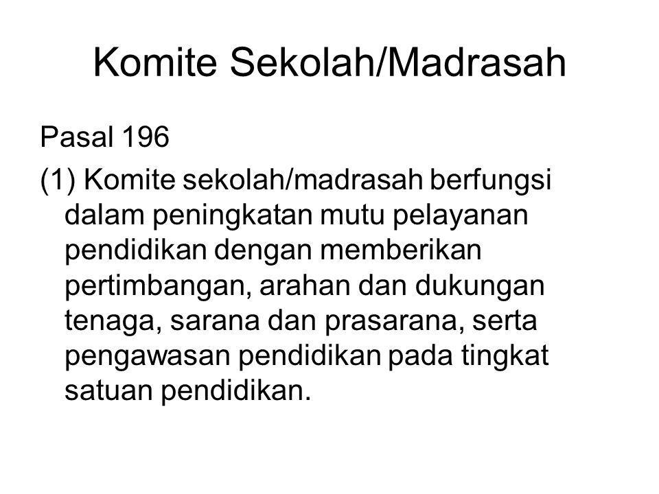 Komite Sekolah/Madrasah