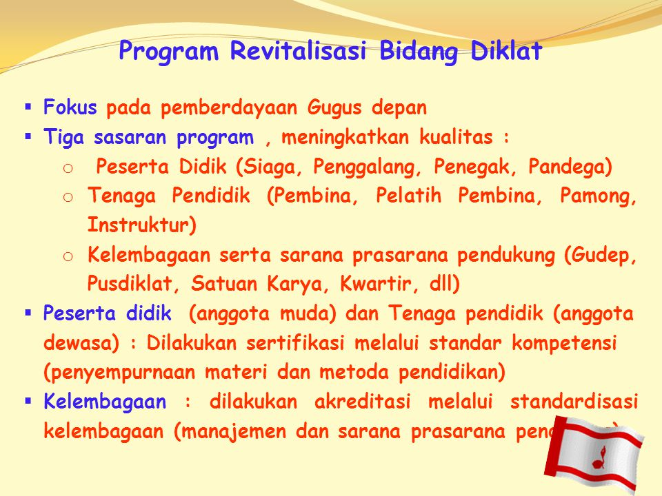 Program Revitalisasi Bidang Diklat
