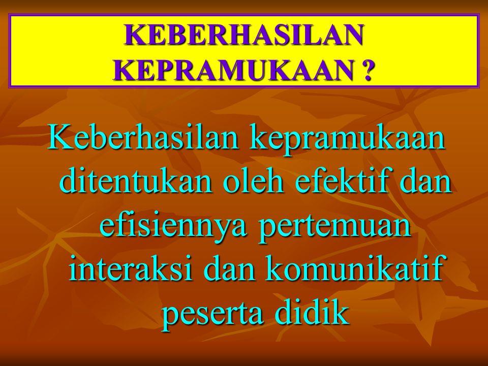 KEBERHASILAN KEPRAMUKAAN