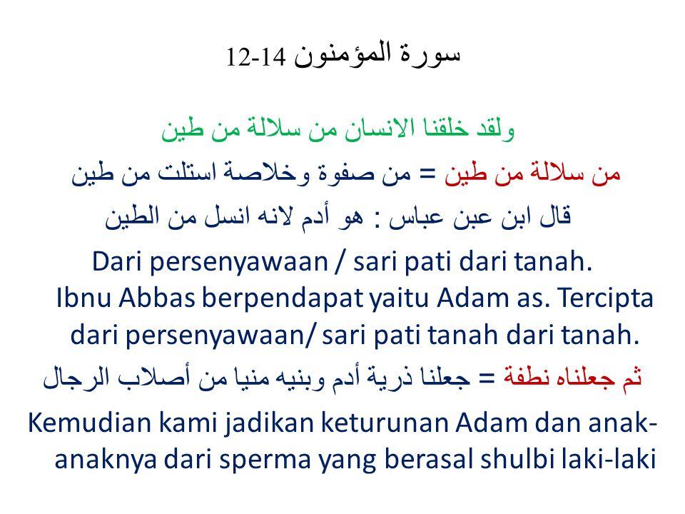سورة المؤمنون 14-12