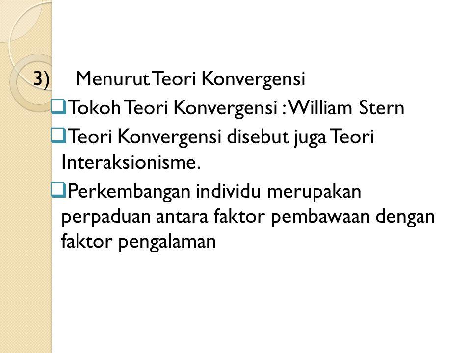 3) Menurut Teori Konvergensi