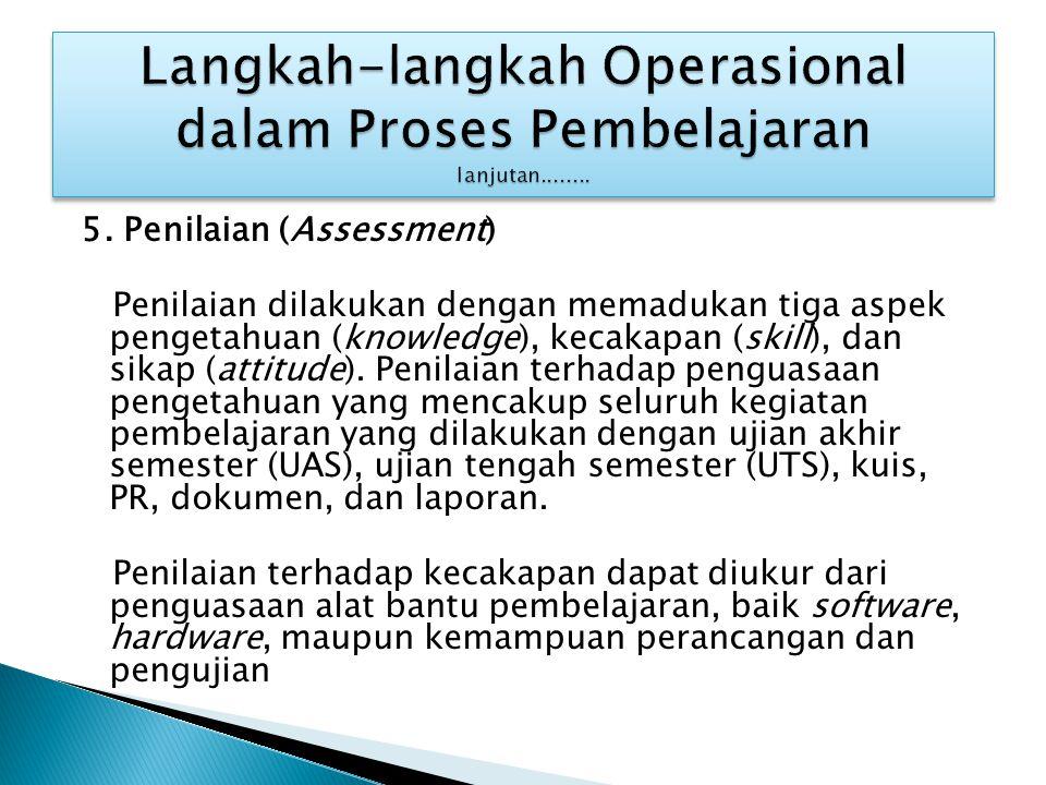 Langkah-langkah Operasional dalam Proses Pembelajaran lanjutan........