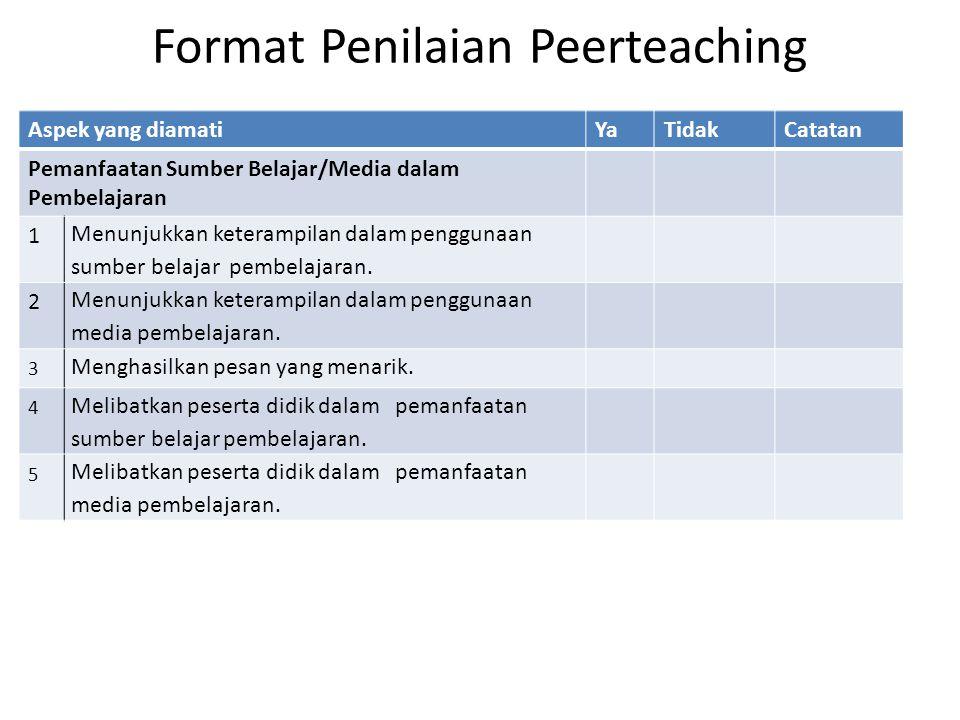 Format Penilaian Peerteaching