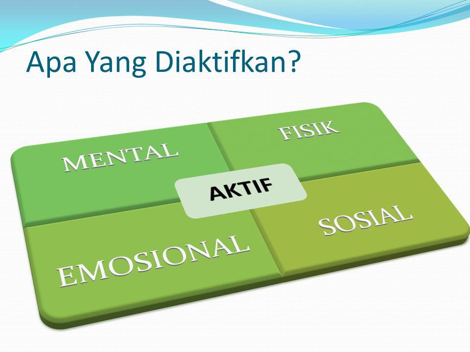 Apa Yang Diaktifkan AKTIF MENTAL FISIK EMOSIONAL SOSIAL