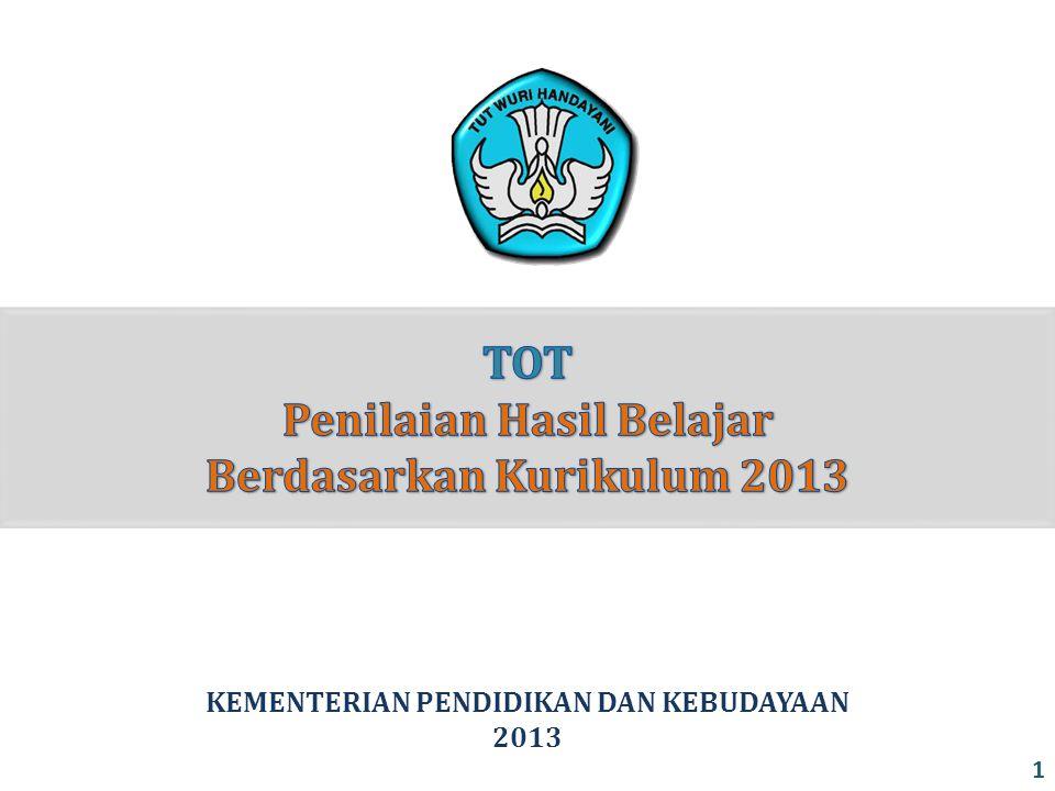TOT Penilaian Hasil Belajar Berdasarkan Kurikulum 2013