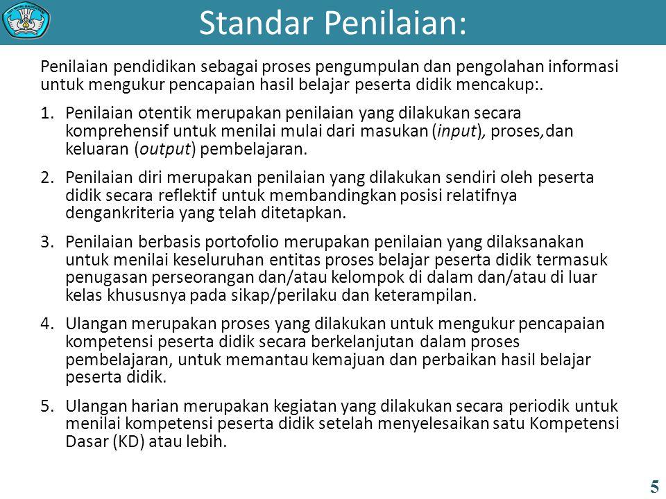 Standar Penilaian: